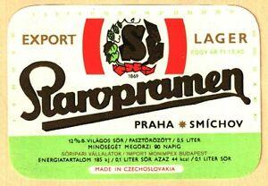 ETICHETTA - STAROPRAMEN 12% - marchio SMICHOVSKY - fabbrica:  SMICHOV - N. 116