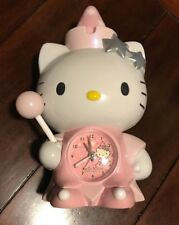 Vintage SANRIO Pink Hello Kitty wizard  Clock rare