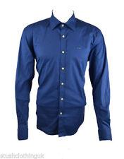HUGO BOSS Patternless Button Cuff Formal Shirts for Men