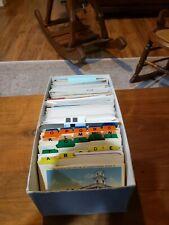 New ListingBox of over 600 vintage postcards chrome, linen, paper, used/unused, various