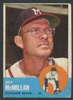 1963 Topps #156 Roy McMillan VG/VGEX Braves 31594