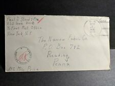 USS IOWA BB-61 Naval Cover 1943 Censored WWII Sailor's Mail ALGERIA