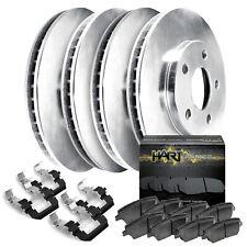Fit Ford Explorer, Flex, Taurus Front Rear Blank Brake Rotors+Ceramic Brake Pad
