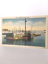 Rockland Maine Boat  Public Landing Postcard NEAR MINT