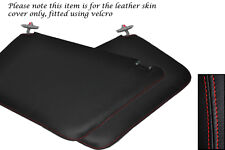 RED STITCHING FITS FORD TRANSIT CONNECT 2X SUN VISORS LEATHER COVERS ONLY