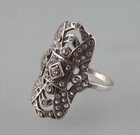 9901139 925er Silber Art déco deco Ring mit Swarovski-Steinen Gr. 51