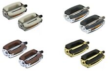 """Vintage Schwinn Stingray Krate Bow Style Classic Pedals 1/2"""" or 9/16"""" Repro"""