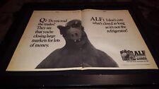 Alf Rare Original Lorimar 1988 Promo Poster Ad Framed!