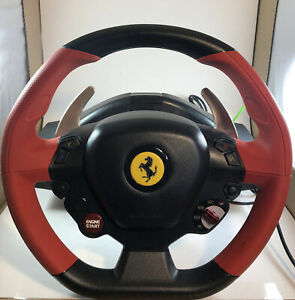 Xbox One Thrustmaster Ferrari 458 Spider Racing Steering Wheel With Pedals
