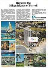 HILTON HAWAIIAN VILLAGE WAIKIKI BEACH HONOLULU 1968 RAINBOW TOWER NO MURAL AD