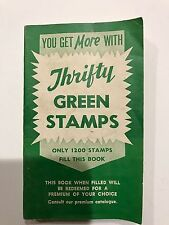 Vintage 1960's Thrifty Green Stamps Book completely filled with stamps !