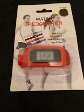 Watch Pedometer Fitness Digital Reader - **New** Red