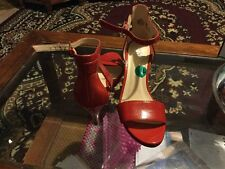 New nine west  red shoes