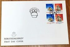 Norway Post FDC 1988.11.15. Christmas Stamps - Fairy Tale Figure - Block of Four