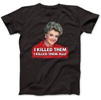 Jessica Fletcher Angela Lansbury T-Shirt 100% Premium Cotton Angela Lansbury