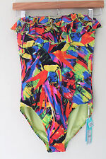 NWT SeaFolly Australia Ruffled Oasis Maillot Swim Suit with Frills 6 $160