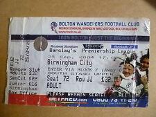 Ticket 2004 BOLTON WANDERERS v BIRMINGHAM CITY, 25 Sep (Barclays Premier League)