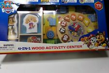 Paw Patrol 4-In-1 Wood Activity Center 75 Piece Set By Spin Master