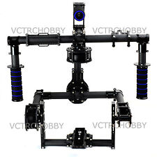 3-Axis DSLR Handle Carbon Brushless Gimbal w/6208H-150 motor for 5D2 Run Movie