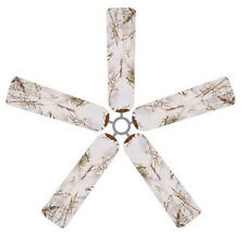 Ceiling Fan Blade FABRIC Cover SNOW 5pcs home/office decor weather true timber