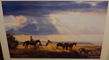 """TIM COX """"BETWEEN HEAVEN AND EARTH"""" HAND SIGNED HUGE COLOR WESTERN POSTER"""