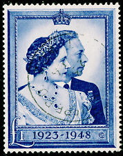 Sg494, £1 blue, FINE used, CDS. Cat £40.