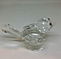 """Crystal Clear BIRD  (H: 2"""" x L: 3"""" x W: 1.5) Paperweight Collectible"""