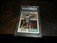 1974 Topps #27 Milwaukee Brewers George Scott Authentic Signed PSA/DNA  D.2013