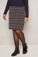 PAPRIKA Multi Diamond Pattern Textured Stretch Size Uk Skirt Uk 14 LS172 EE 04