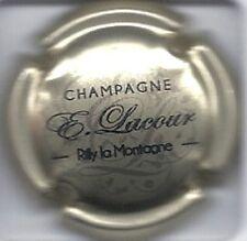 Nouvelle capsule de champagne  LACOUR . E  Fond Or Pale