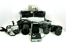 Lot of 7 35mm and Digital Cameras As Is Parts or Repair Only See Description