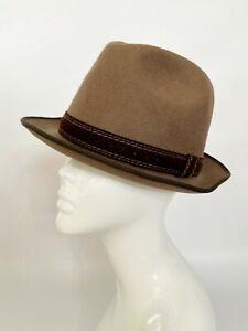 Vintage wool hat,Ascot, wool hat, races,church,trilby hat,fedora hat by Rockel