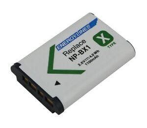 Accu Batterie Pour Sony NP-BX1; HD-MV1;HDR-AS15; HDR-AS15B De Energylines