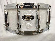 """Pearl Masters Mmg 14"""" Snare Drum/Matte White Marine Pearl/#422/Maple-Gum Shell"""