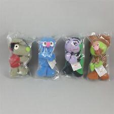 Lot of 4 Sesame Street Mini Beans Count Grover Sherlock Benny Rabbit