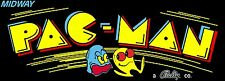 Pac-Man Arcade Marquee For Reproduction Midway/Bally Header/Backlit Sign