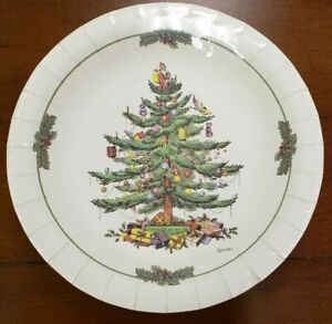 NWT C.R. Gibson Spode Christmas Tree 16-count Luncheon Dessert Paper Plates 20cm
