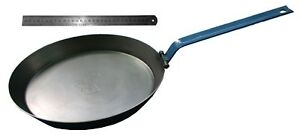 Hillbilly blue steel frypan 310mm campfire gas electric folding handle induction