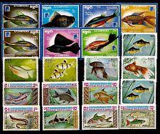 KAMPUCHEA LES POISSONS seafish  aquariums et mers    28m227a