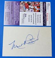 MARV RICKERT SIGNED 3x5 INDEX CARD ~ ATLANTA BRAVES D. 1978 ~ JSA R85353  TOUGH