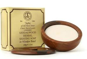 Sandalwood Shave Soap in Wooden Bowl - {or Refill}