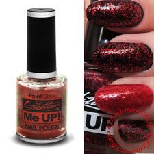 Paint Glow RED GLITTER Nail Polish Varnish Clear Top Coat PaintGlow