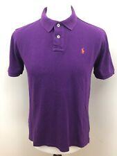 "Para Hombres Polo By Ralph Lauren Polo Shirt-Pequeño - 40"" Bolsillos-Púrpura/Rojo Pony"