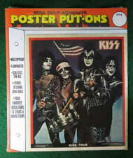 KISS 1976 TOUR POSTER PUT-ON STICKER NEAR MINT SEALED IN PACKAGE