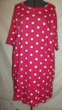 NWT MoonCraft pink white polka dot two piece shorts top set 2X shirt  (B89)
