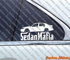Lowered SEDAN MAFIA sticker - for Saab 9-5 Station aero sedan
