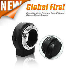 Commlite CM-ENF-E1 PRO Auto Focus Lens Adapter for Nikon F Lens to Sony E Mount