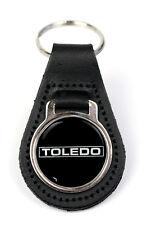 Triumph Toledo Logo Quality Black Leather Keyring