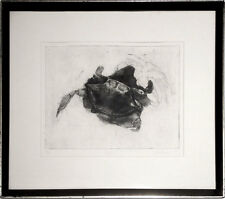 Crabs, signed A. Gerson, 1977 etching, Fine Art Print, framed