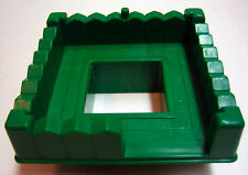 Lincoln Logs Green Tower Roof Piece Plastic Accessory Replacement Building Part